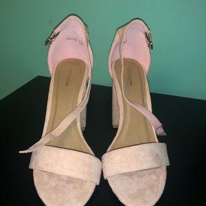 Pretty little thing dusty pink heels
